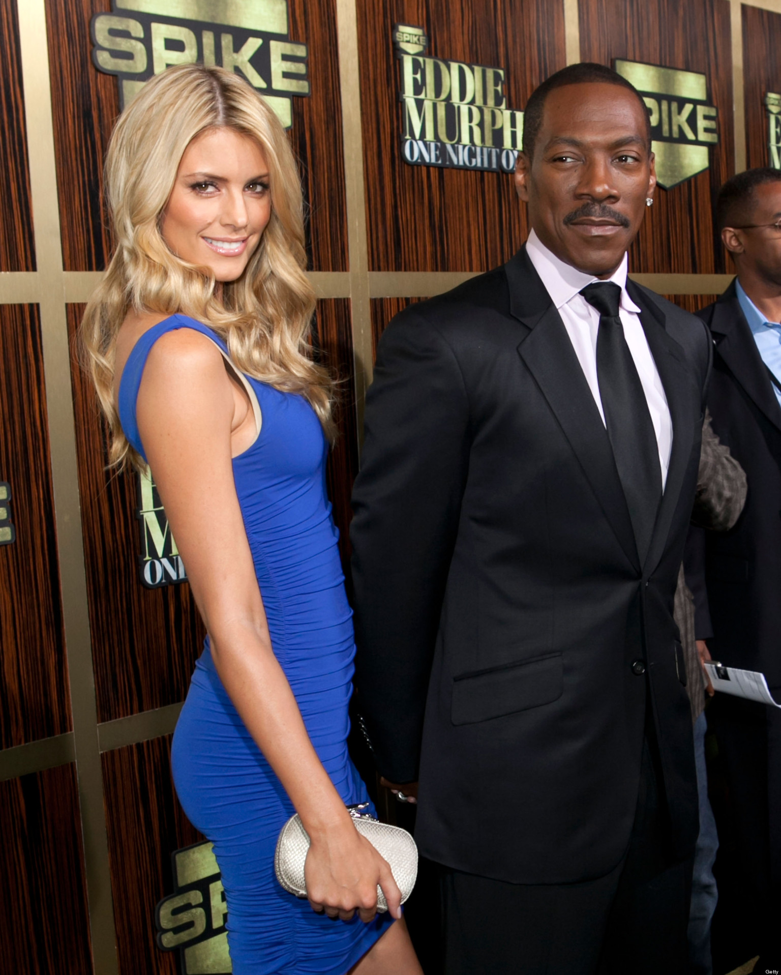 "BEVERLY HILLS, CA - NOVEMBER 03: Eddie Murphy and Paige Butcher arrive to Spike TV's ""Eddie Murphy: One Night Only"" - Arrivals at Saban Theatre on November 3, 2012 in Beverly Hills, California. (Photo by Gabriel Olsen/FilmMagic)"